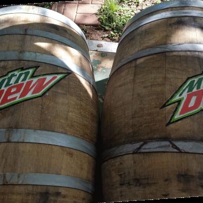 Carved barrels. Wood laser engraving.